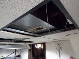 overhead duct to a drop ceiling