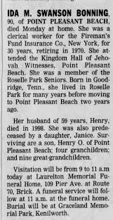 Ida Swanson Bonning Obituary - Newspapers.com