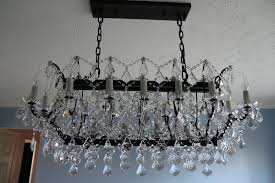 smoke crystal chandelier terrific restoration hardware crystal chandelier in c rococo iron clear r iron and