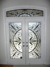 wrought iron glass door inserts stained glass door inserts aurora newmarket richmond