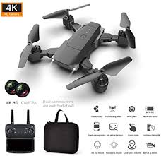 <b>Foldable Camera</b> Drone with HD 4K <b>Dual Camera</b>, Wide-Angle Live ...