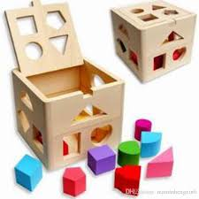 free wooden educational toys block children s toys thirteen holes shape box infants blocks baby teaching blocks