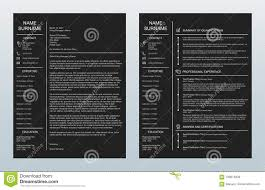 Vector Minimalist Creative Cover Letter And One Page Resume/cv ...
