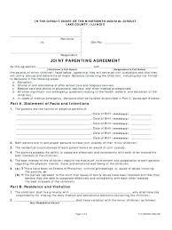 Custody Agreement Sample Shared Custody Agreement Sample