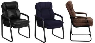 flash furniture go 1156 bn gg brown microfiber executive side chair with sled base