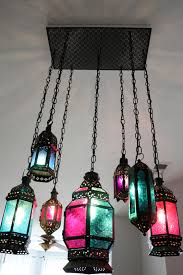 i love moroccan lanterns and wanted to make a custom chandelier for our dining room