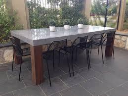 concrete dining table. 1 Of 6 Concrete Dining Table O