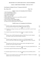 iii eee cs computer networks important questions for unit unit