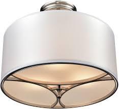 elk 10263 3 pembroke polished nickel ceiling light loading zoom