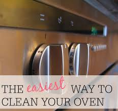 the easiest way to clean the oven
