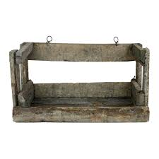 reclaimed wood crate shelves