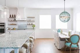 bretagne blue kitchen glass countertop in a beach cottage