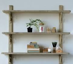 rustic wooden bookshelf wall mounted