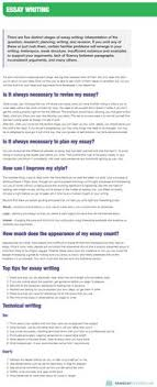 Essay Introduction Types Of Essays Tips For Essay Writing