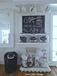 Kitchen Coffee Bar Junk Chic Cottage New Chalkboard New Coffee Bar