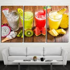canvas hd prints poster restaurant decor kitchen 3 pieces shaved ice drink painting wall art fruit on food and drink canvas wall art with canvas hd prints poster restaurant decor kitchen 3 pieces shaved ice