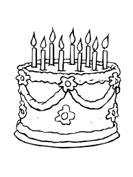 Choose from hundreds of free templates. Birthday Cake Coloring Page Free Printable Birthday Cake Is A Cake Given To Someone On His Birthday Coloring Pages Cake Drawing Happy Birthday Coloring Pages