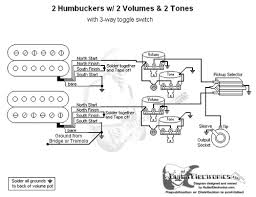 telecaster wiring diagram 2 humbucker telecaster humbuckers 3 way toggle switch 2 volumes 2 tones on telecaster wiring diagram 2 humbucker