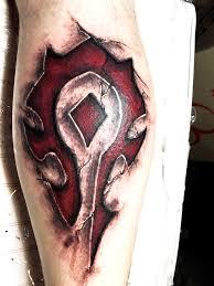 сделать тату для мужчин в тематике игры варкрафт World Of Warcraft