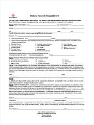 Medical Records Request Forms 24 Health Record Form Samples Free Sample Example Format Download 17