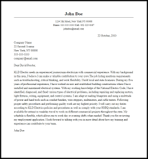 Professional Journeyman Electrician Cover Letter Sample Writing