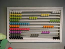 Abacus Wall Art Makin Projiks 99 Wooden Beads On The Wall