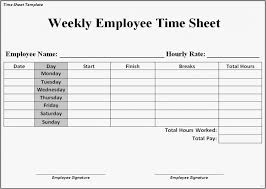 Free Printable Timesheets For Employees
