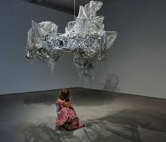 lee bul state of reflection 2016 installation view at the 38th eva international steven cohen chandelier 2001