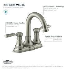 worth faucet kohler bathroom single handle installation