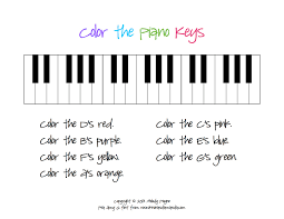 Small Picture Color The Piano Keys Sheet Inside Coloring Pages itgodme