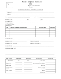 Bakery Order Form Template Crevis Co