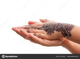 Ručičkou Henna Tetování Matky Ruku Podpora Pomoc Rodina Pospolitosti