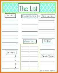 Master Task List Template