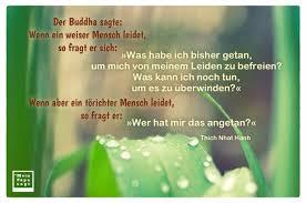 Der Buddha Sagte Wenn Ein Weiser Mensch Leidet So Fragt Er Sich