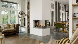 ... Gas fireplace / contemporary / closed hearth / 3-sided ROOM DIVIDER 3  Bellfires ...