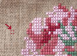 Cross Stitch Free Patterns Cool Rose Cross Stitch Burlap Bag Tutorial The Polka Dot Chair