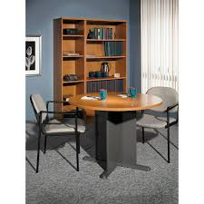 conference table and chairs with small round table and wire management also square table in your office ideas