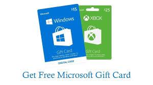Microsoft Giftcard Get Microsoft Gift Card Free 2019 Get Free Microsoft Gift