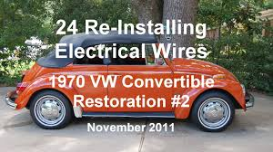 24 of 44 1970 vw beetle installing electrical wires wmv 24 of 44 1970 vw beetle installing electrical wires wmv