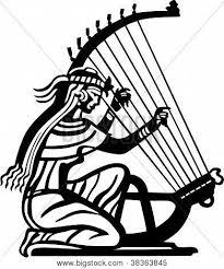 Resultado de imagem para mulheres tocando harpa