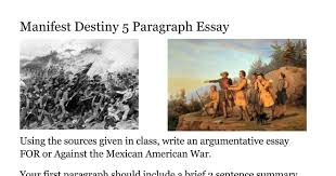 manifest destiny paragraph essay google docs