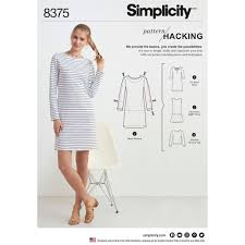 Knit Dress Pattern Classy Womens Knit Dress Or Top For Design Hacking Simplicity Sewing