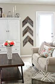 wall photo decor rustic farmhouse living room ideas for your home chevron  accent decorations