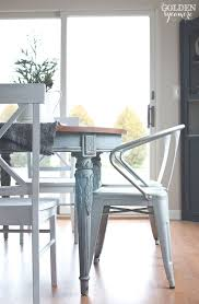 this gorgeous painted dining table has just the right amount of py distressing milk paint is amazing