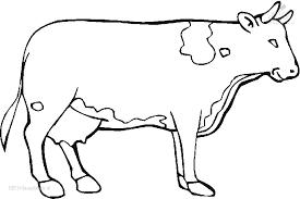 Kleurplaat Dieren Koe Kleurplaat Koe