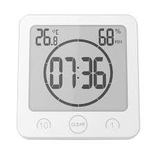 digital shower alarm clock timer waterproof temperature humidity meter bathroom suction clock wall clocks wall clocks digital shower alarm clock timer