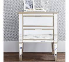 Pottery Barn Mirrored Furniture Park Mirrored 2 Drawer Bedside Table Pottery Barn Au