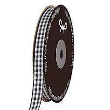 Micomon Black Gingham Plaid Checked Ribbon 25 ... - Amazon.com