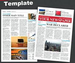 Newspaper Template For Photoshop Amazing Newspaper Templates Available In Formats 4 Page Free Old