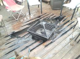 unsurpassed deck safe fire pit new on wood safety articles with decking